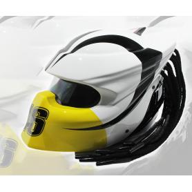 Valentino Rossi Logo : Blanc / Noir / Jaune / Rouge